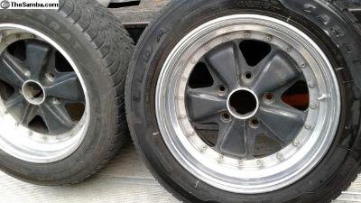 PORSCHE Fuchs Wheel Pair OEM Were 16x6 NOW 16x8