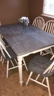 Distressed dining table!