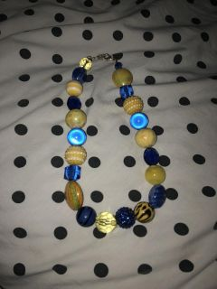 Blue and Gold Boutique Necklacw