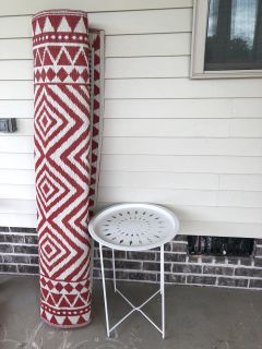 5x7 outdoor rug and indoor/outdoor side table