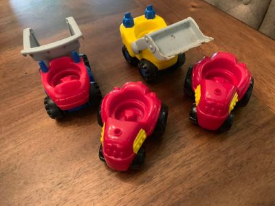 Lot of 4 Fisher Price Little People Ride on Vehicles - no people