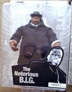 NEW Mezco The Notorious B.I.G. Action Figure Biggie Smalls Black Suit