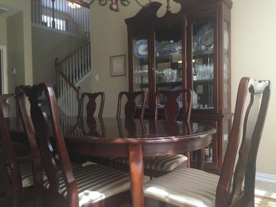 Formal Dining Room Table, 8 chairs, hutch