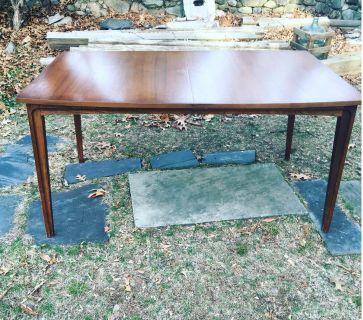 Vintage Mid Century Modern Walnut Dining Table