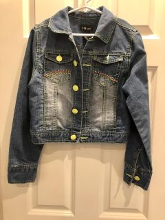 Adorable Girls Denim Jacket! Like New! Size XL 14/16