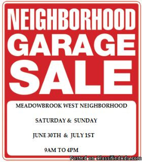 Meadowbrook West Subdivision Garage Sale