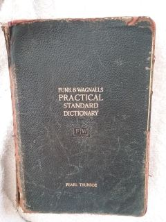 1927 funk and wagnalls practical standard dictionary