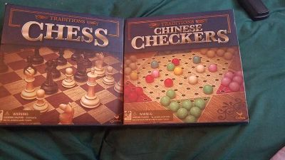 Brand new chess and Chinese checker games $2 each