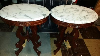 Antique marble tables
