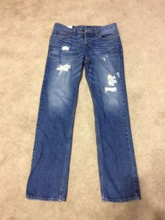 Hollister Men s Button Fly Distressed Jeans