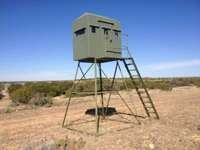 SF 4x8 Deer Blind on 10ft Tower