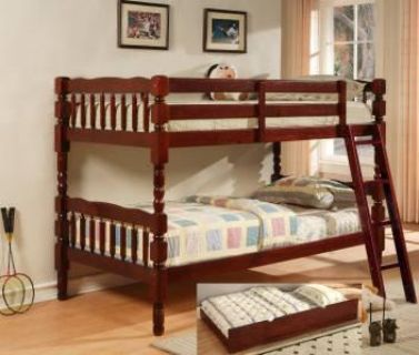 $169, Beautiful solid wood twin over twin bunk beds GREAT  DEAL