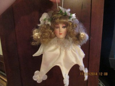 Porcelain Doll Ornament -- Pretty Face -- REDUCED!