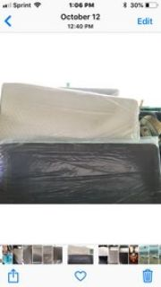 twin size mattress and box spring still in plastic