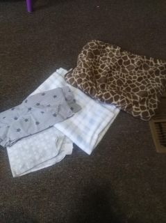 Swaddling blankets/ baby blankets and bibs