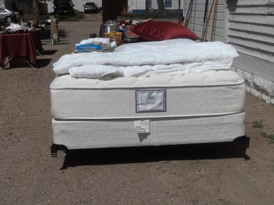Queen bed , Glider Chair ,Shelf, oak desk. Crossbow.