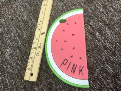 Victoria Secret PINK brand watermelon cell phone case, I believe for an iPhone 6? You can try it on your phone before buying $7.00