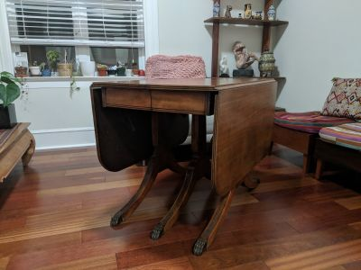 Duncan Phyfe Antique Drop-Leaf Table