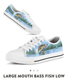 Low sneakers with Bass fish print