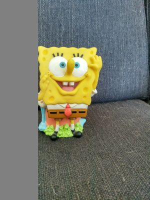 Clearing out basement - laughing sponge bob - year 2000