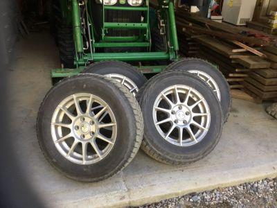 4 Mitsubishi winter tires w/ rims & sensors