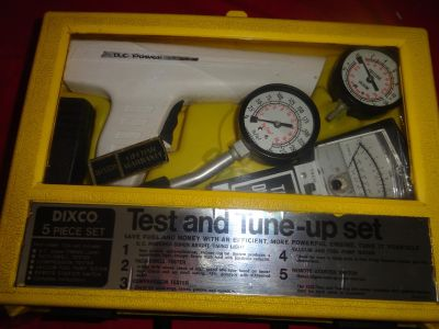 Dixco Model 1333 5-piece Test And Tune-up Set - Timing Light, Manuals, Box