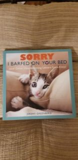 "Funny book for cat lovers. My granddaughter enjoyed the pics too...""what's he doing?"""