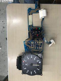 Gauge cluster foil with temp fuel gauge, clock
