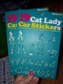 New Cat Lady car stickers
