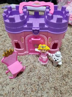 Fisher Price People Princess Dog and Castle