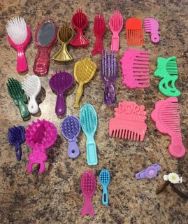 Doll s hair brushes and combs