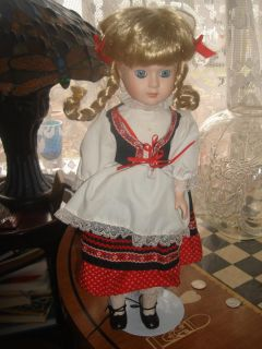 ellis island collectible musical doll german dress
