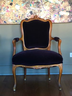 French Louis Side Arm Chair