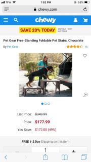 Foldable Pet Steps for large dog, very sturdy & well-made, holds up to 350 lbs! **READ FULL DESCRIPTION BELOW