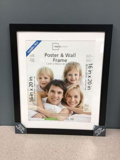 Mainstays Matted to 16x20 Wide Gallery Poster and Picture Frame, Black