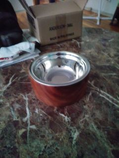 Set of 2 dog or cat food dishes new