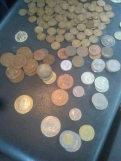 Foreign old coins from around the world