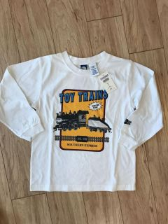 Super cute brand new with tag Gymboree long sleeve toy train shirt size 5