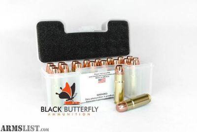 For Sale: BLACK BUTTERFLY TARGET SUBSONIC .458 SOCOM 350 GRAIN BERRY PLATED ROUND SHOULDER - CASE OF 20