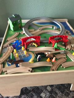 Train table and track