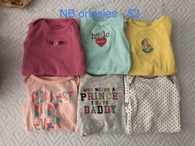 Baby girl clothes - NB