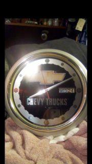 Chevy trucks walk clock