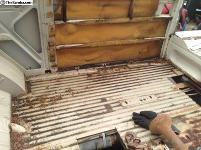 Bus Cargo Floor Repair Metal
