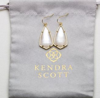 Brand new, Kendra Scott, ivory pearl and gold Carla earrings!