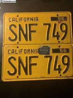 Vintage California License Plate
