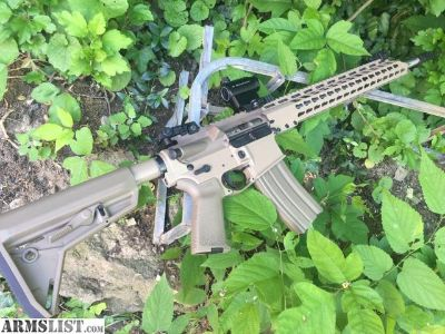 "For Sale: AR-15 FDE 18"" Barrel 15"" Keymod"