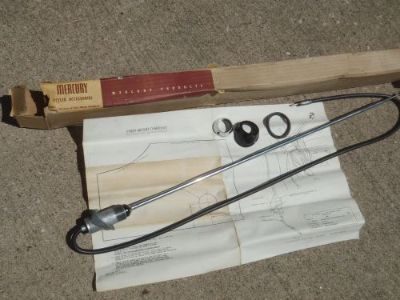 Sell NOS 1955 1956 1957 MERCURY LINCOLN RARE ANTENNA FENDER FDK 18813 A OPTION 55 56 motorcycle in Salem, Iowa, United States, for US $499.95