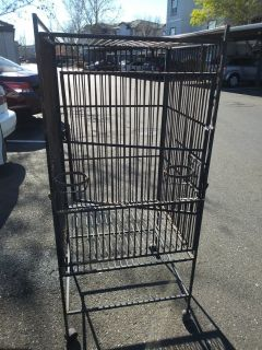 Large Wrought Iron Cage that needs to be refurbished