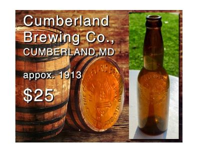 1915 Cumberland Brewing Co. Pre Prohibition Beer Bottle