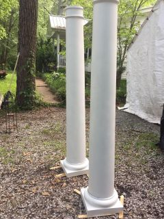 6 1/2 ft Heavy Duty Fiberglass Columns - there are 2- $75 both